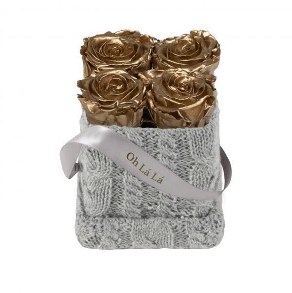 Lá Petite Knitted Gold Roses | Oh Lá Lá Roses